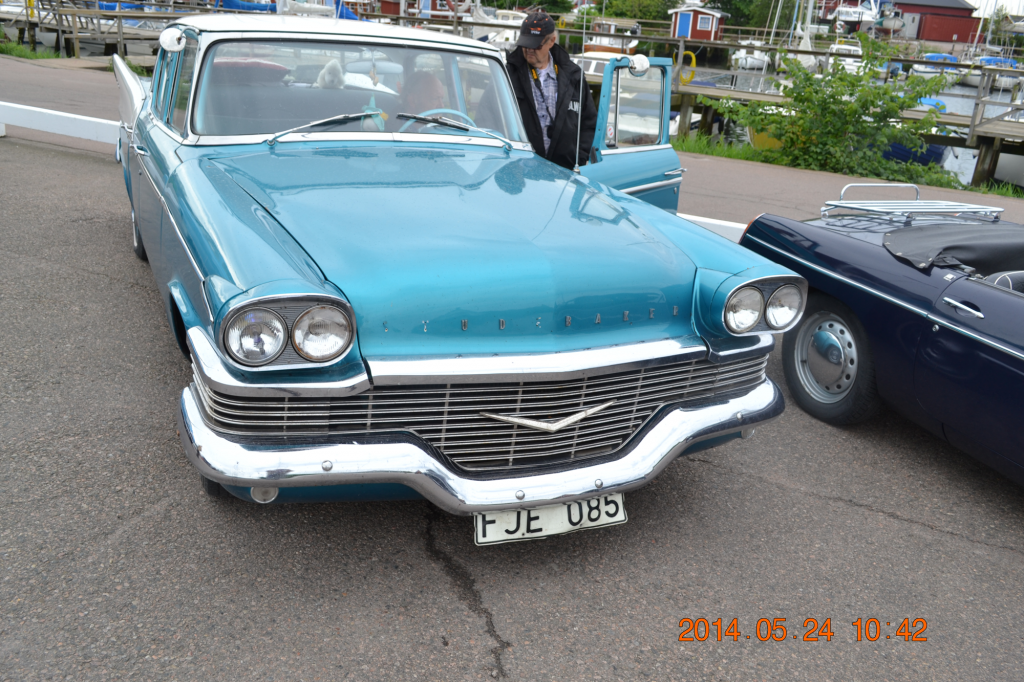 En av veteranbilarna.
